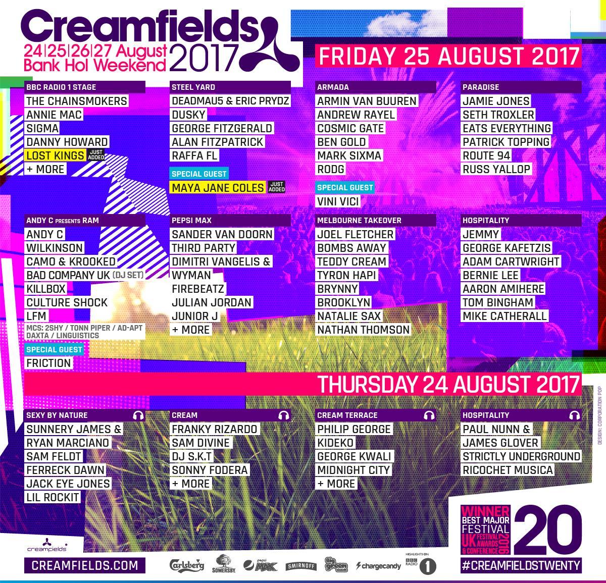 Creamfields 2017 Liverpool Old Skool
