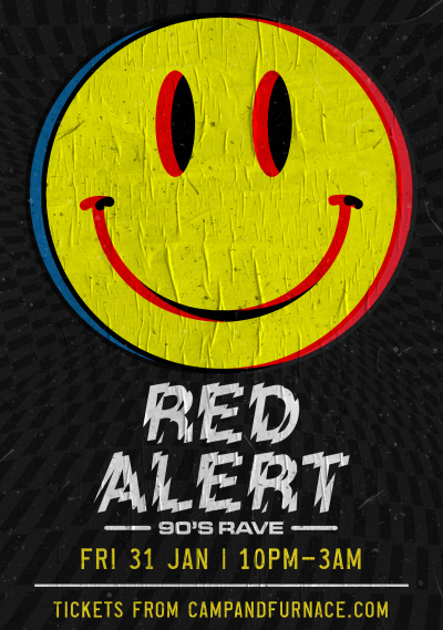 Red alert 90s rave Liverpool